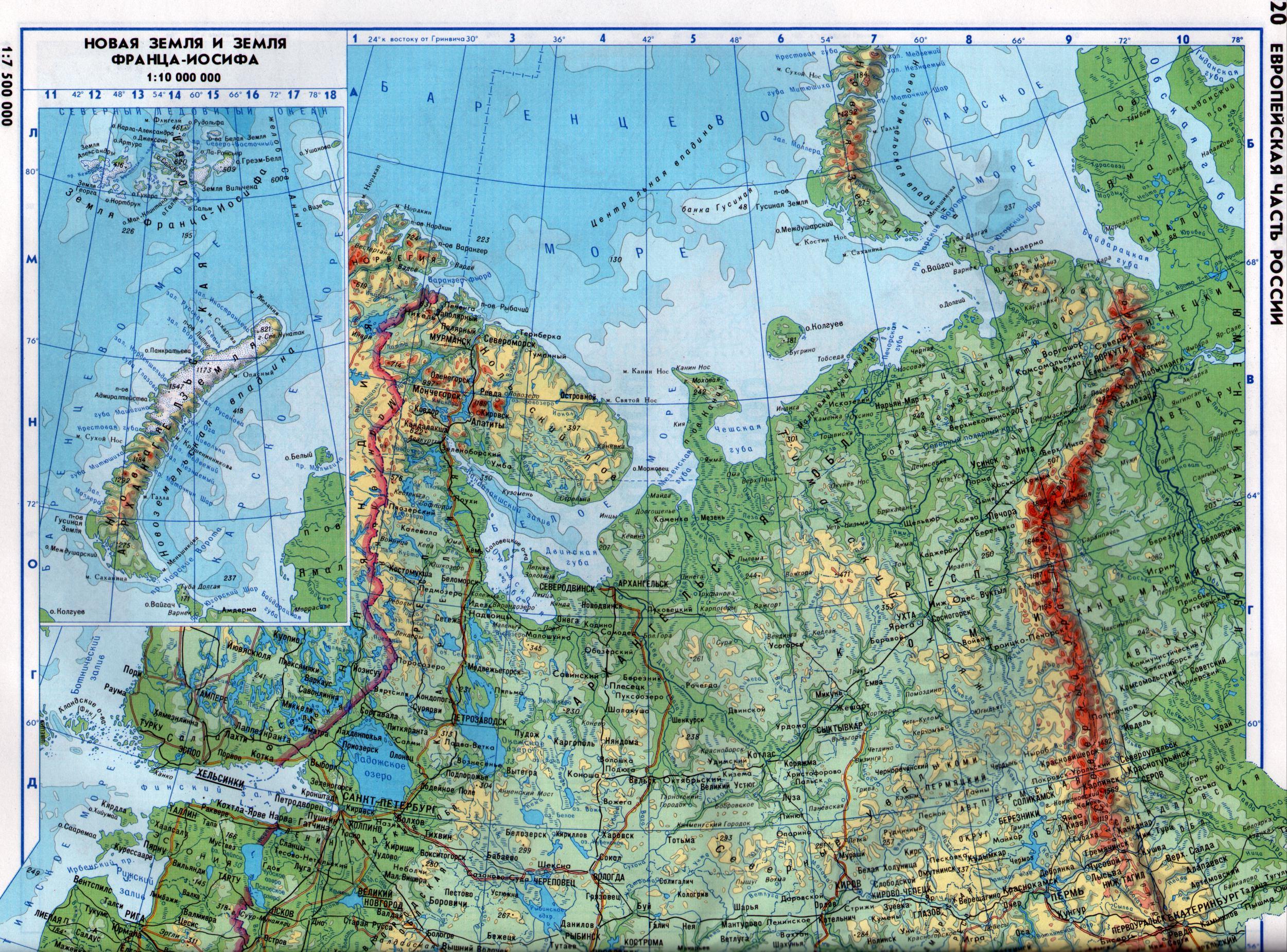 России карта побережья баренцева моря